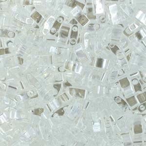 Miyuki Half Tila Bead 1/2 Cut 5mm Lustre Crystal