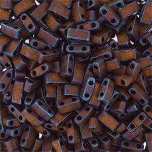 Miyuki Half Tila Bead 1/2 Cut 5mm Matte Metallic Copper