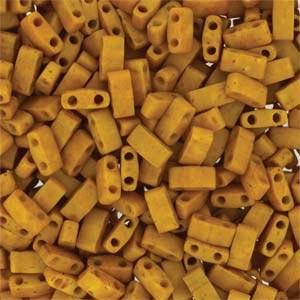 Miyuki Half Tila Bead 1/2 Cut 5mm Opaque Mustard