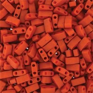 Miyuki Half Tila Bead 1/2 Cut 5mm Opaque Burnt Sienna