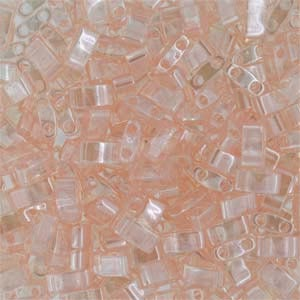 Miyuki Half Tila Bead 1/2 Cut 5mm Lustre Light Rose