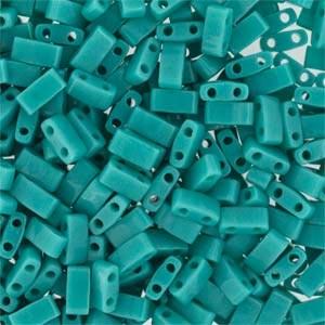 Miyuki Half Tila Bead 1/2 Cut 5mm Opaque Turquoise Green