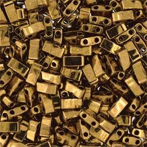 Miyuki Half Tila Bead 1/2 Cut 5mm Metallic Dark Bronze