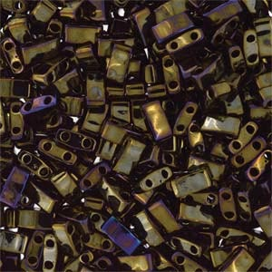 Miyuki Half Tila Bead 1/2 Cut 5mm Metallic Brown Iris