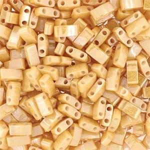 Miyuki Half Tila Bead 1/2 Cut 5mm Ceylon Light Caramel