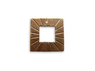 Vintaj Natural Brass 18x18mm Etched Toggle Square x1
