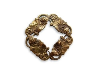 Vintaj Natural Brass 27x27mm Small Waterlilly Ring x1