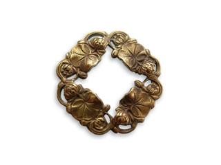 Vintaj Natural Brass 27x27mm Small Waterlilly Ring x1