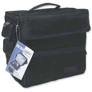 Beadsmith Travellers Tote, Bead Traveller Storage Bag with Plastic Craft Organiser Boxes