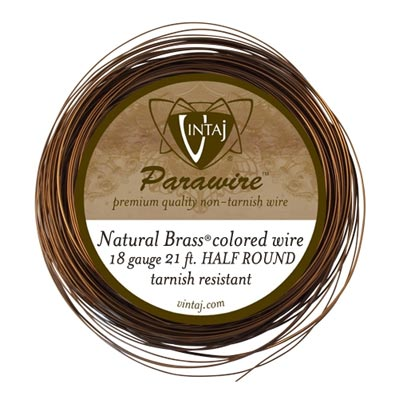 Vintaj by ParaWire - HALF Round Wire 18g Vintaj Bronze