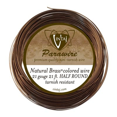 Vintaj by ParaWire - HALF Round Wire 21g Vintaj Bronze