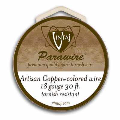 Vintaj by ParaWire - Wire 18ga Artisan Copper (30ft)