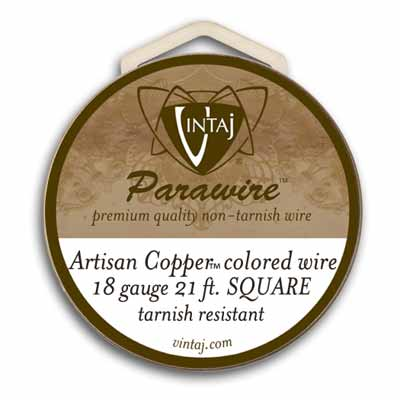 Vintaj by ParaWire - SQUARE Wire 18g Artisan Copper