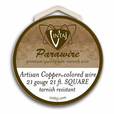 Vintaj by ParaWire - SQUARE Wire 21g Artisan Copper