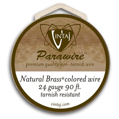 Vintaj by ParaWire - Wire 24g Vintage Bronze (90ft)