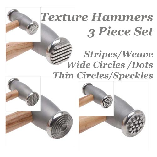 Beadsmith Texture Hammer Set of 3 Jewellers Tools