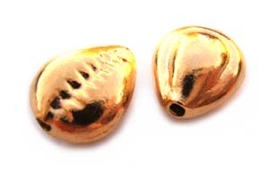 Thai Karen Hill Tribe Gold Vermeil - Sea Shell Bead