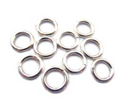 Thai Karen Hill Tribe Silver - 16g 7mm Open Jump Rings x1