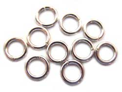Thai Karen Hill Tribe Silver - 18g 6mm Open Jump Rings x1