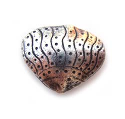 Thai Karen Hill Tribe Silver - 20x17x7mm Sea Shell Bead x1