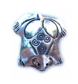 Thai Karen Hill Tribe Silver - 20x17mm Frog Bead x1