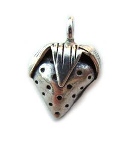Thai Karen Hill Tribe Silver - Strawberry Charm Pendant