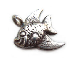Thai Karen Hill Tribe Silver - Angel Fish Charm x1