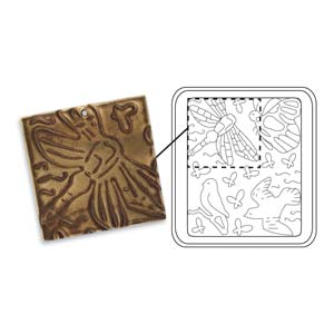 Vintaj Natural Brass - Sizzix DecoEtch Die - Fluttering Wings
