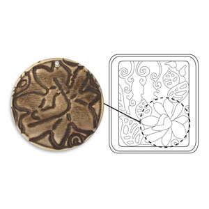 Vintaj Natural Brass - Sizzix DecoEtch Die - Botanical Flourish