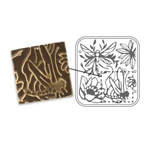 Vintaj Natural Brass - Sizzix DecoEmboss Die - Dragonfly Pond