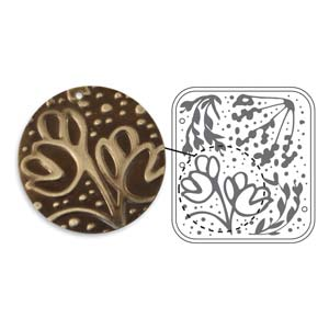Vintaj Natural Brass - Sizzix DecoEmboss Die - Wildflower Vines