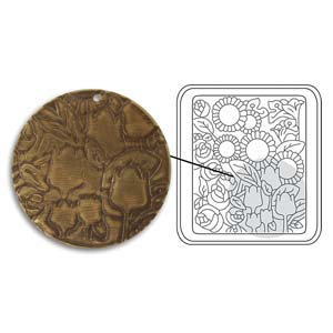 Vintaj Natural Brass - Sizzix DecoEtch Die - Tulip Garden