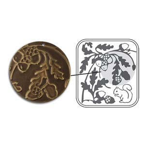 Vintaj Natural Brass - Sizzix DecoEmboss Die - Acorn Hollow