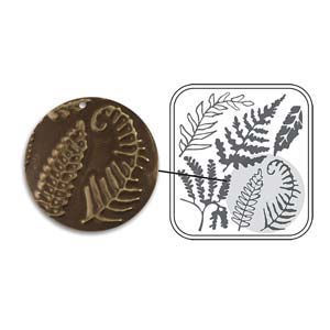 Vintaj Natural Brass - Sizzix DecoEmboss Die - Fern Fronds