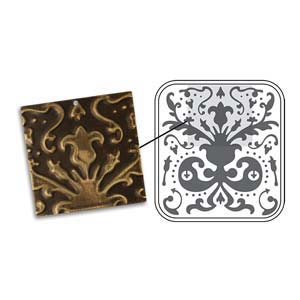 Vintaj Natural Brass - Sizzix DecoEmboss Die - Lily Damask