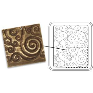 Vintaj Natural Brass - Sizzix DecoEtch Die - Daisy Swirl