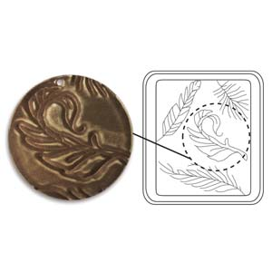 Vintaj Natural Brass - Sizzix DecoEtch Die - Fine Feathers