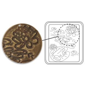 Vintaj Natural Brass - Sizzix DecoEtch Die - Lily Pads