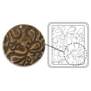Vintaj Natural Brass - Sizzix DecoEtch Die - Paisley Swirl