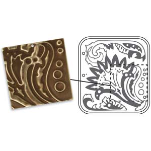 Vintaj Natural Brass - Sizzix DecoEmboss Die - Floral Décor