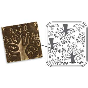 Vintaj Natural Brass - Sizzix DecoEmboss Die - Mod Trees