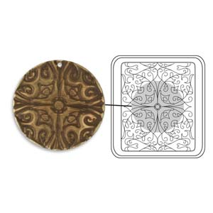 Vintaj Natural Brass - Sizzix DecoEtch Die - Baroque Filigree