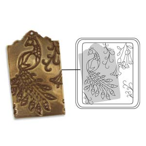 Vintaj Natural Brass - Sizzix DecoEtch Die - Bird Of Paradise