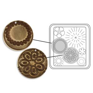Vintaj Natural Brass - Sizzix DecoEtch Die - Mod Flowers