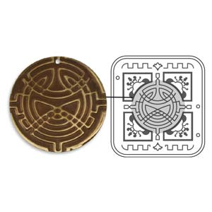 Vintaj Natural Brass - Sizzix DecoEmboss Die - Celtic Weave