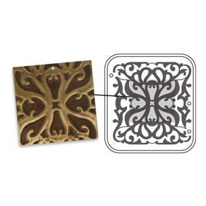 Vintaj Natural Brass - Sizzix DecoEmboss Die - Filigree Garden