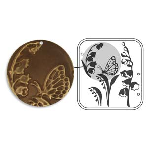 Vintaj Natural Brass - Sizzix DecoEmboss Die - Lily Of The Valley