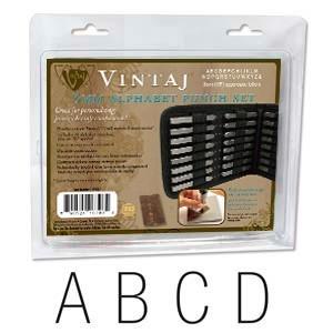 Vintaj Gothic Alphabet Upper Case Letter 3mm 1/8 Stamping Set - Beadsmith