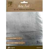 Ranger, Vintaj Arte Foil - Silver 6x6in Adhesive Metal Sheets (3pcs)