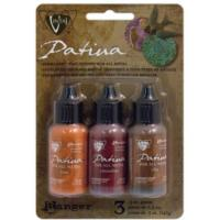 Vintaj Patina Kit Pack, Rusted Hardware by Ranger x3 0.5oz Bottle Pack